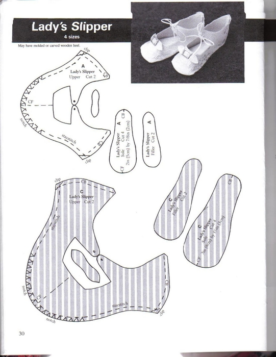 Make Doll Shoes workbook 1 030 (541x700, 175Kb)