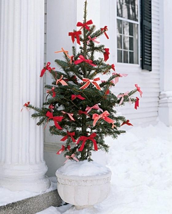 Красный новогодний интерьер своими руками