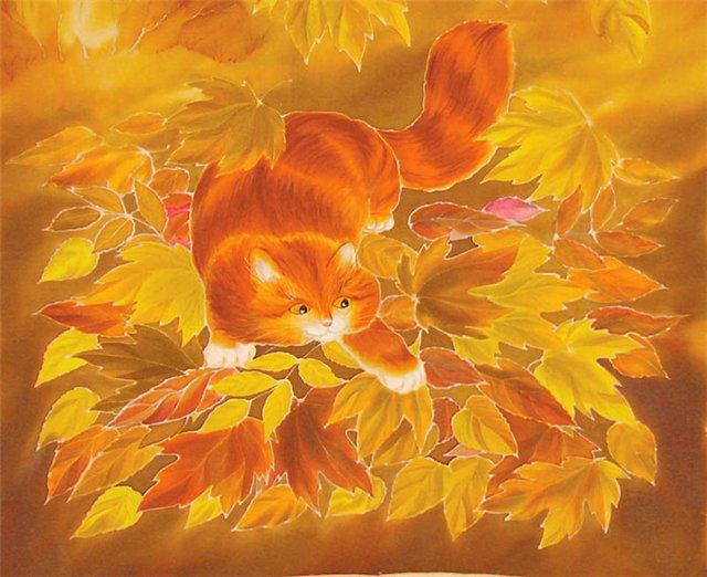кот рыжий, елена иванова (640x522, 72Kb)