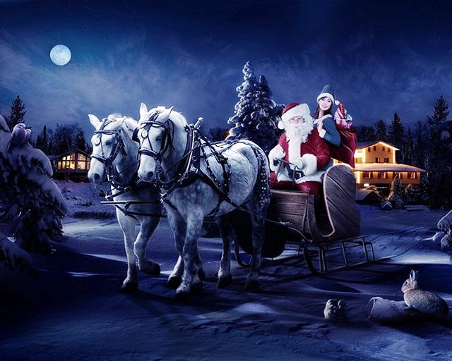 Дед Мороз со Снегуркой (640x512, 162Kb)