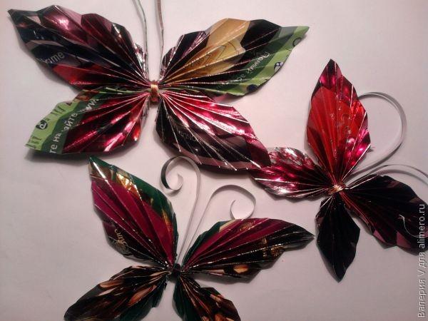 Поделки из фантиков от конфет своими руками для детей