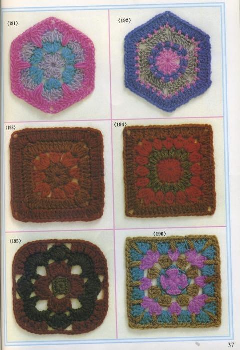 Вязание крючком.  Цветочные мотивы со схемами.  Вдохновлялочка от Марриэтты.