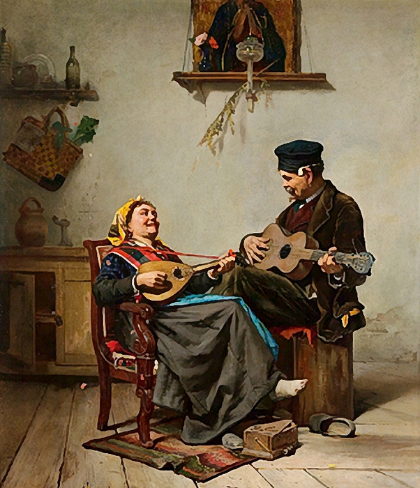 Bernardo, Francesco (19th century) - Hausmusik (602x700, 355Kb)