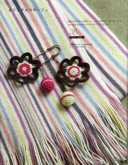 Hand Knitted Corsages 4 (448x576, 136Kb)