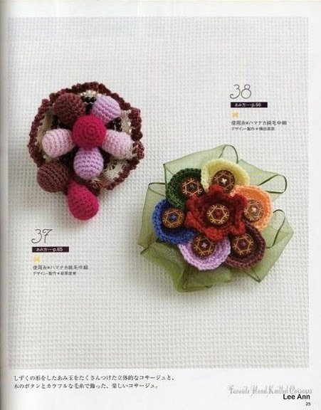 Hand Knitted Corsages 5 (451x576, 68Kb)