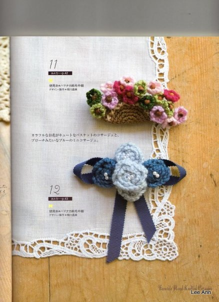 Hand Knitted Corsages 59 (438x604, 65Kb)
