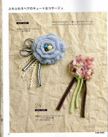 Hand Knitted Corsages 67 (457x576, 88Kb)