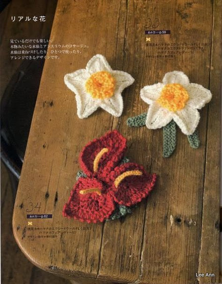 Hand Knitted Corsages 73 (452x576, 85Kb)
