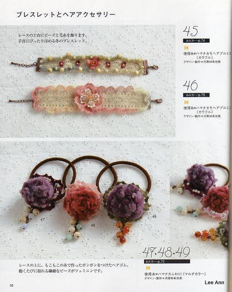 Hand Knitted Corsages 62 (477x601, 66Kb)