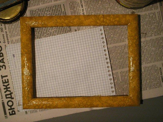 Украсить рамку для картины