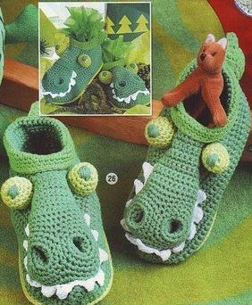 Схемы вязания тапочек крючком взрослых