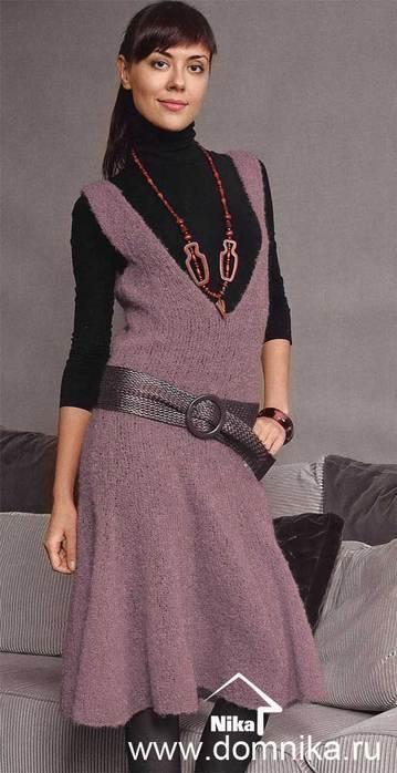 Вязание сарафана спицами - вот