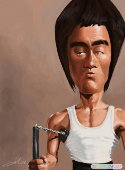 bruce-lee-caricature (518x700, 164Kb)