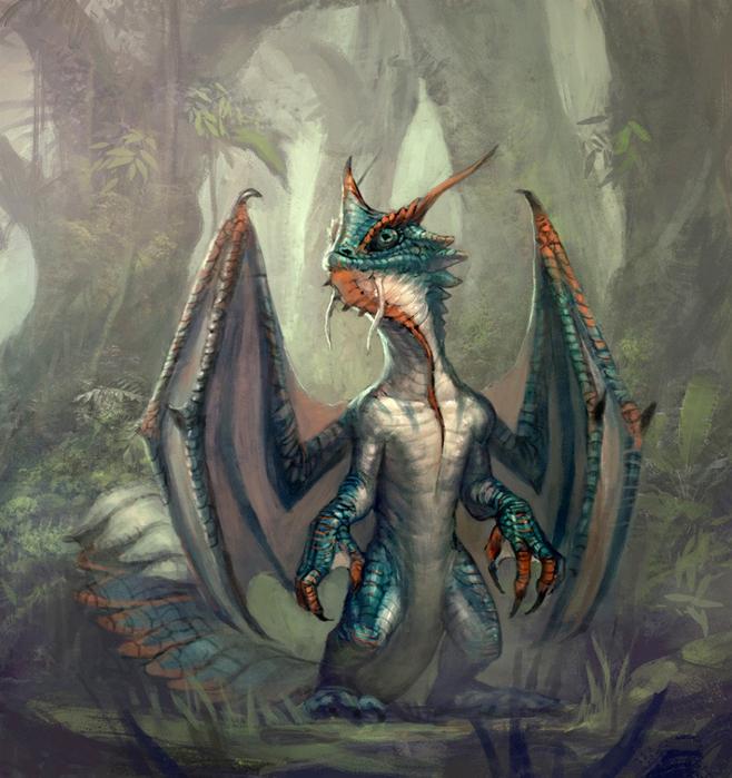 Кто рисовал крылатого дракона