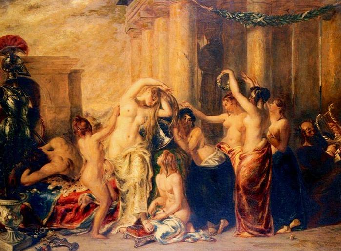 Картина Венера и ее свита :: Этти Уильям - Картины ню, эротика в шедеврах ж
