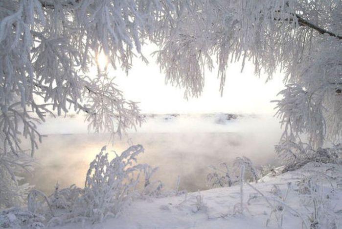 зима, природа, пейзажи