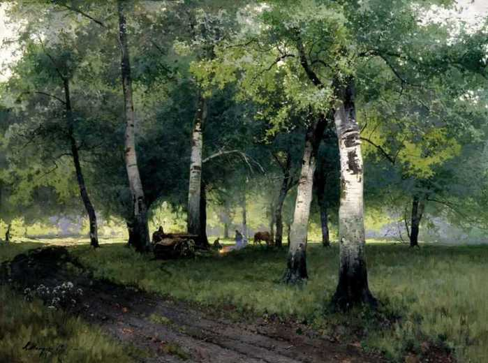 Березовый лес 1908 (700x520, 49Kb)