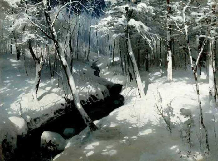 Ручей в лесу 1906г (700x518, 47Kb)