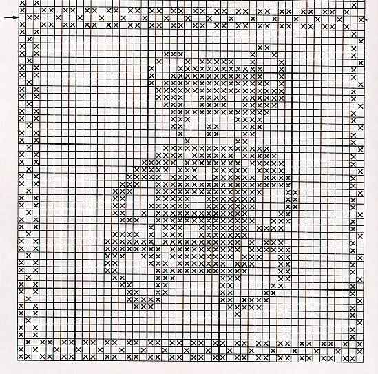 Схема вязания пледа мишки 913