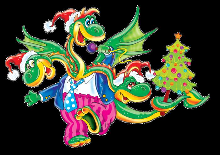 Рисуем драконов на новый год