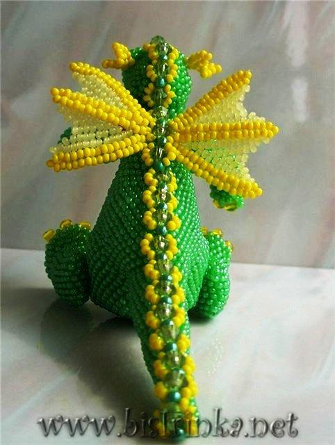 дракон из бисера схема плетения - Сайт о бисере.