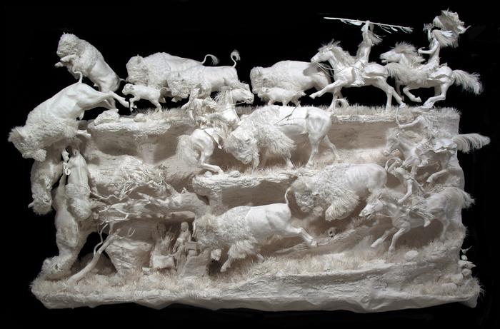 бумажные скульптуры фото