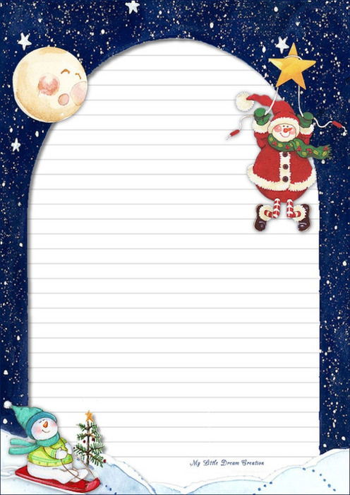 TOUCHING HEARTS: LETTERS TO SANTA CLAUS - templates (free printable)