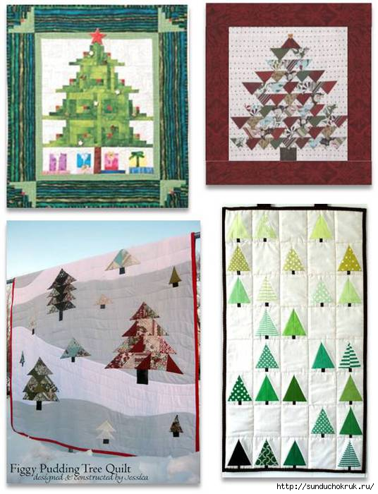 111114 Christmas trees, free patterns montage 2, quiltinspiration.blogspot.com (536x700, 183Kb)