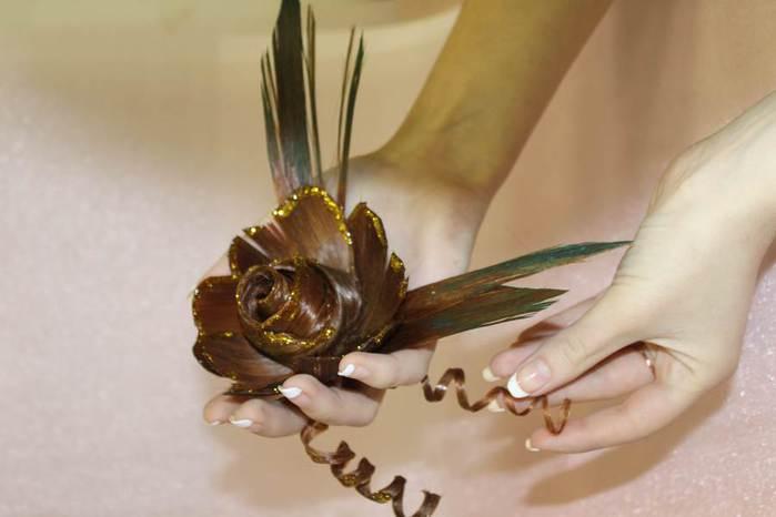 Цветок своими руками для волос