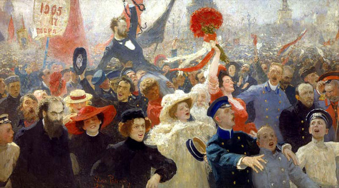 Илья Репин. 17 октября 1905 года (700x388, 129Kb)
