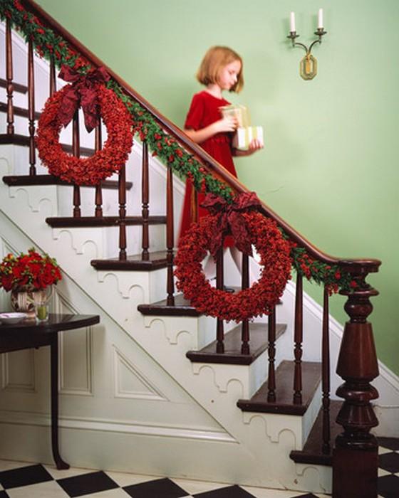 Красивый новогодний венок для ваших дверей