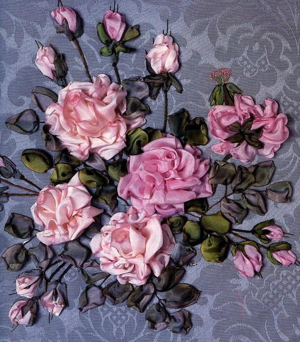 Картинки из ленточек цветы 4