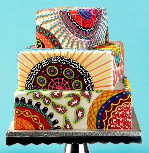 colorful wedding cake (519x534, 66Kb)