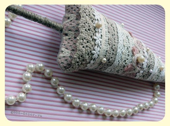 декоративные елочки из ткани<br />