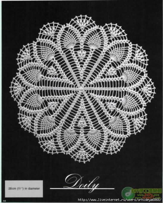 Crochet_doily - вязания крючком круглых скатертей и салфеток.
