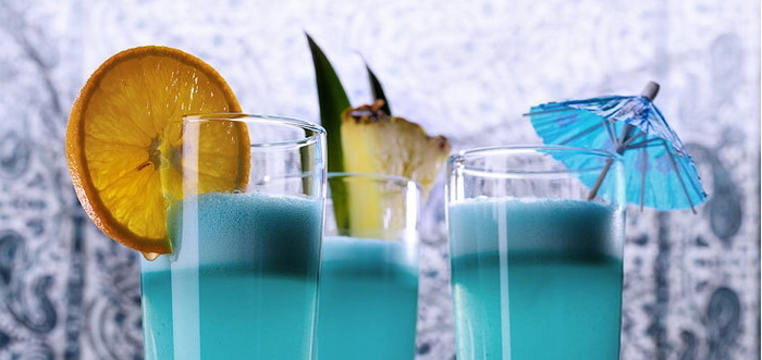 Коктейль Голубые Гавайи - рецепт приготовления с фото и состав.