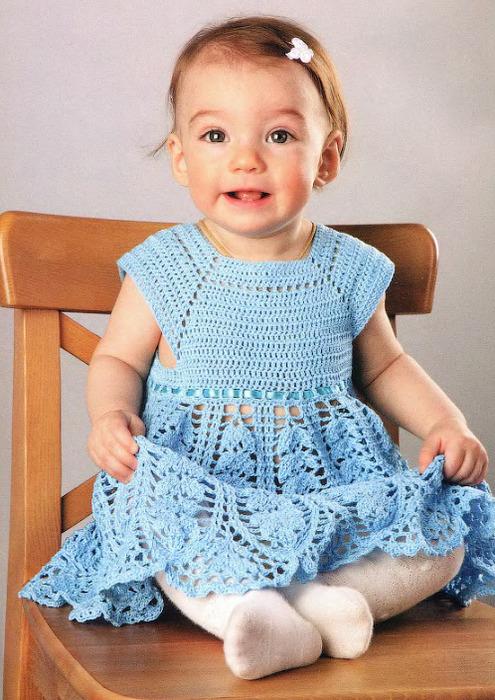 схема вязания платья+описание
