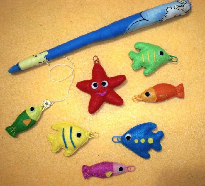 рыбки для рыбалки из фетра