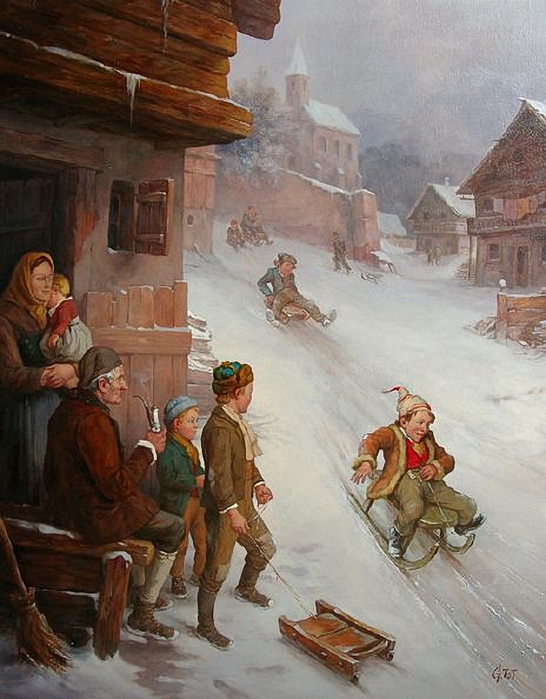 children-on-sledge-01 (546x700, 285Kb)