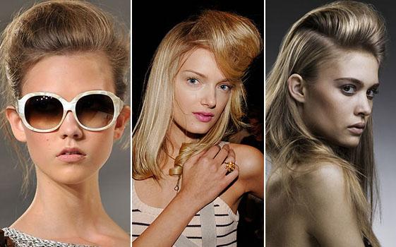 стильные прически с начесом женские 2012