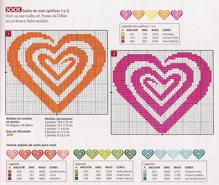 Схема фенечки с сердечками - Делаем фенечки своими руками.