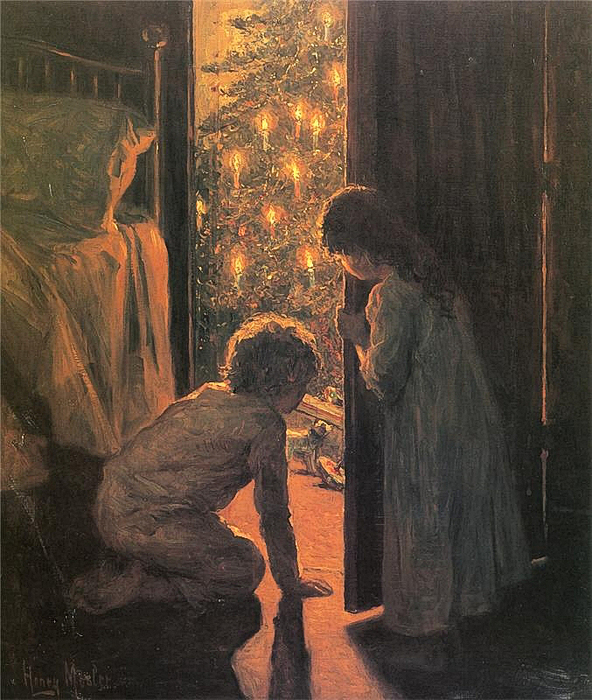 Henry Mosler - Christmas Morning, circa 1916 (592x700, 422Kb)