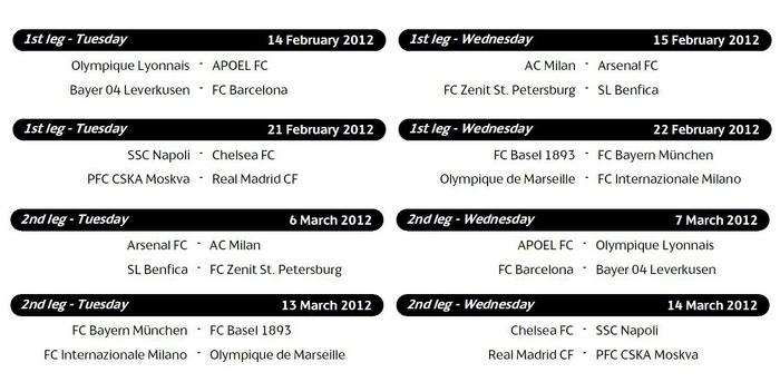 Лига Европы 2 15/2 16 расписание - Футбол/Европа