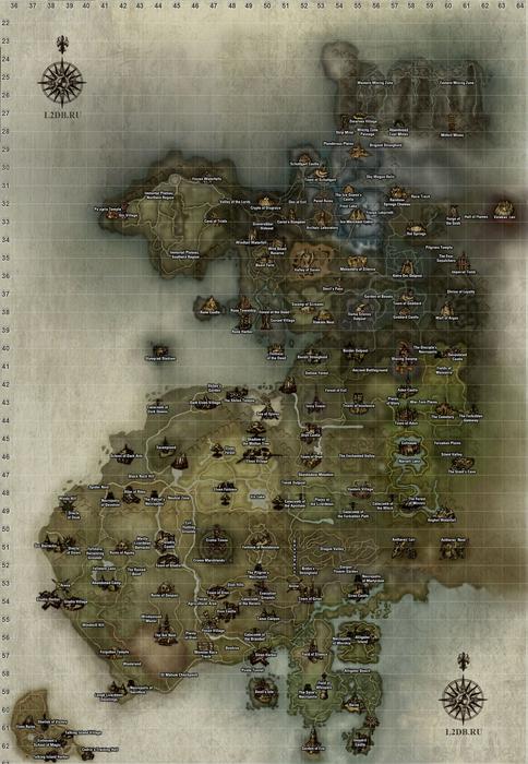 Lineage 2. Карта