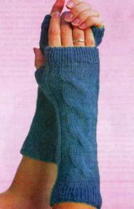 """На нашем женском сайте  """"Дамочка """" Вы в любой момент отыщите публикацию - вязание спицами митенок, с фотографиями..."""