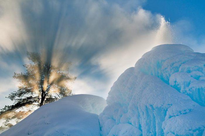 лучи солнца сквозь деревья (700x465, 41Kb)