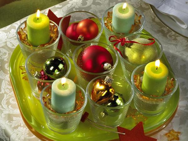 Как украсить к новому году свечи своими