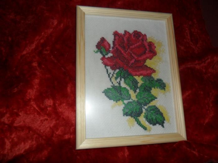 Вышивка крестом розы готовые работы 69
