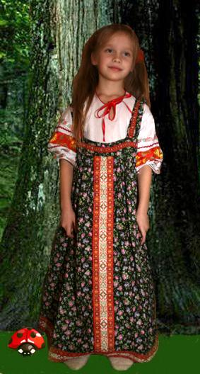 Выкройка русского сарафана для девочки