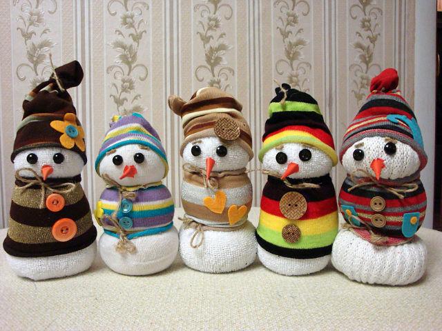 Поделки своими руками снеговик фото